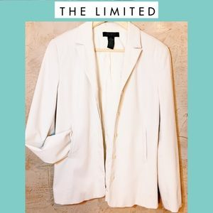 THE LIMITED STRETCH Off White/Ivory Suit Jacket